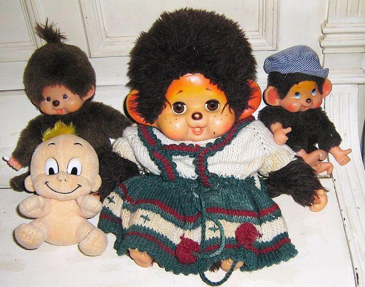 Grosses Monchhichi Monchichi 36cm Plüschtier Stofftier Sammlung Hamster Geschenk