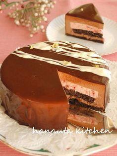 苺&チョコレートのふわふわムースケーキ