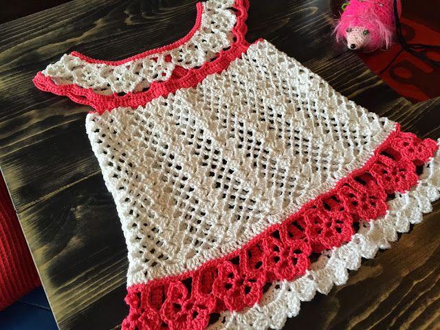 The Daily Knitter & Crocheter: Crochet flower chart tunic pattern - step by step