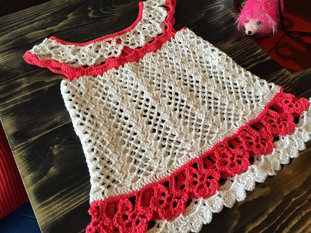The Daily Knitter & Crocheter: Crochet flower chart tunic pattern - step by step