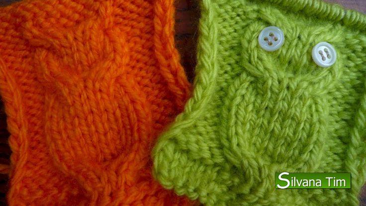 Tejido en dos agujas - PUNTO BUHO. Como tejer punto buho: descripción con grafico y simbolos para tejer en mi blog http://silvana-tim.blogspot.com.ar/2014/08...