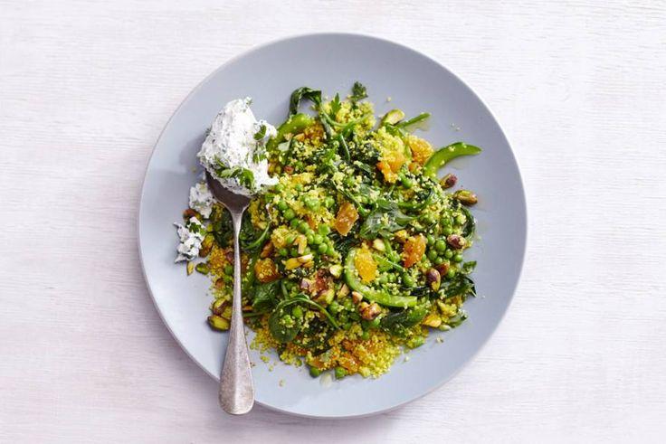 Heerlijk couscousgerecht zonder vlees of vis. Wat er wél in zit: heel veel groene groenten! - Recept - Allerhande