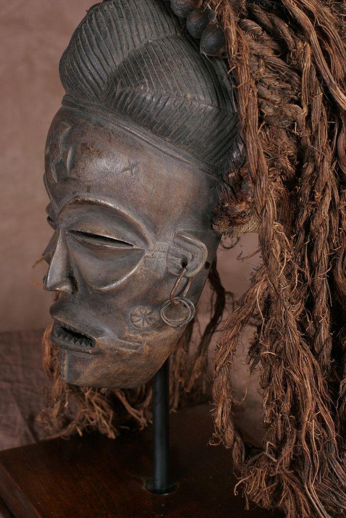 African Chokwe Pwo Mask - culturesinternational  - 1