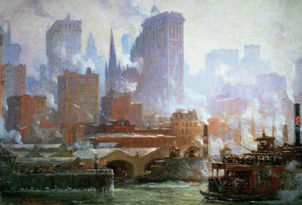 Colin Campbell Cooper-Wall Street Ferry Ship