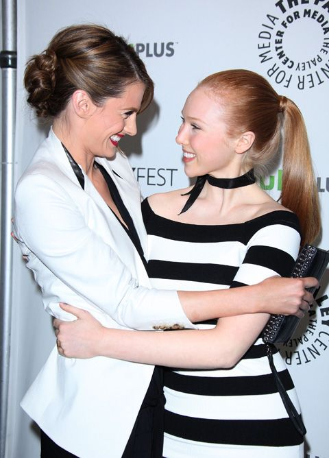 Stana Katic and Molly Quinn at the PaleyFest 2012
