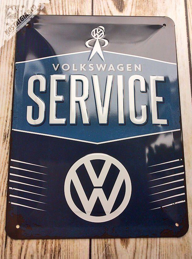 VOLKSWAGEN VW SERVICE GARAGE Embossed Wall Sign tin CAMPER BUS gift car logo