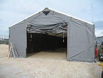 Arbejdstelt, byggeplads telte, telthaller, tørt byggeri, overdækning, inddækning, leje af arbejdstelt