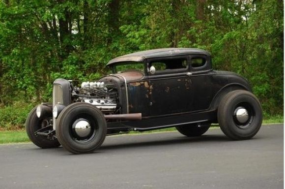 So much badass..... 1930 Ford Model A Coupe Chopped Hot Rod