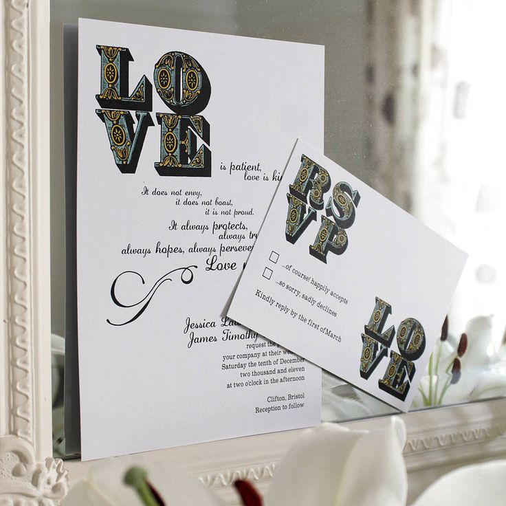 Love Wedding Stationery Range