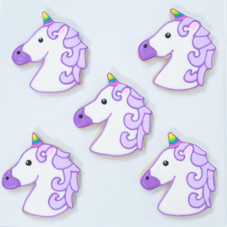 Rosanna Pansino - Here are the Unicorn Emoji Cookies we made today!!