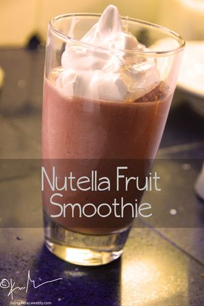 nutella smoothies! healthy afterschool snack!