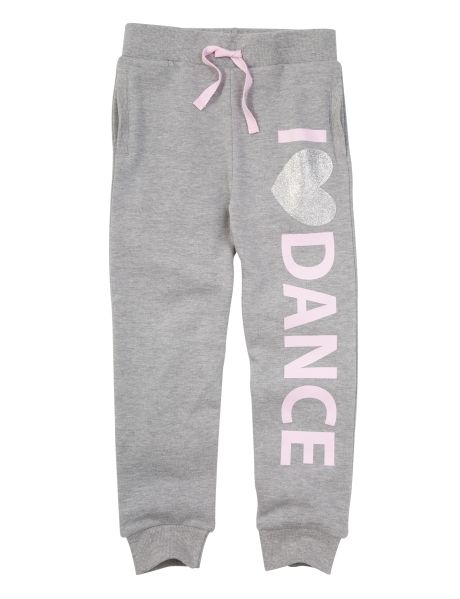 Cute and comfy, these full-length trackpants feature an 'I Love Dance' print, and an elasticated waistband with mock drawcord.