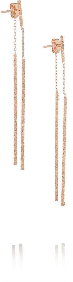 Carolina Bucci Double Magic Wand 18-karat rose gold earrings
