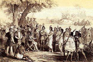 Este cuadro representa la diferencia entre los españoles y los indigenas de America