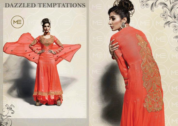 Orange color designed dresses that meets the every one #dreamdresses.
