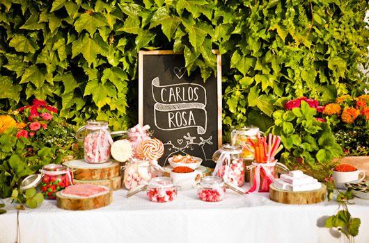 Candy bar o mesa de chucherías realizada por Fanny Funny