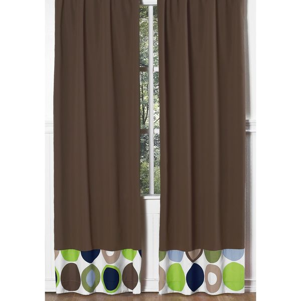 Brown With Pieced Dots Modern 84-inch Curtain Panel Pair - Overstock™ Shopping - Great Deals on Sweet Jojo Designs Curtains