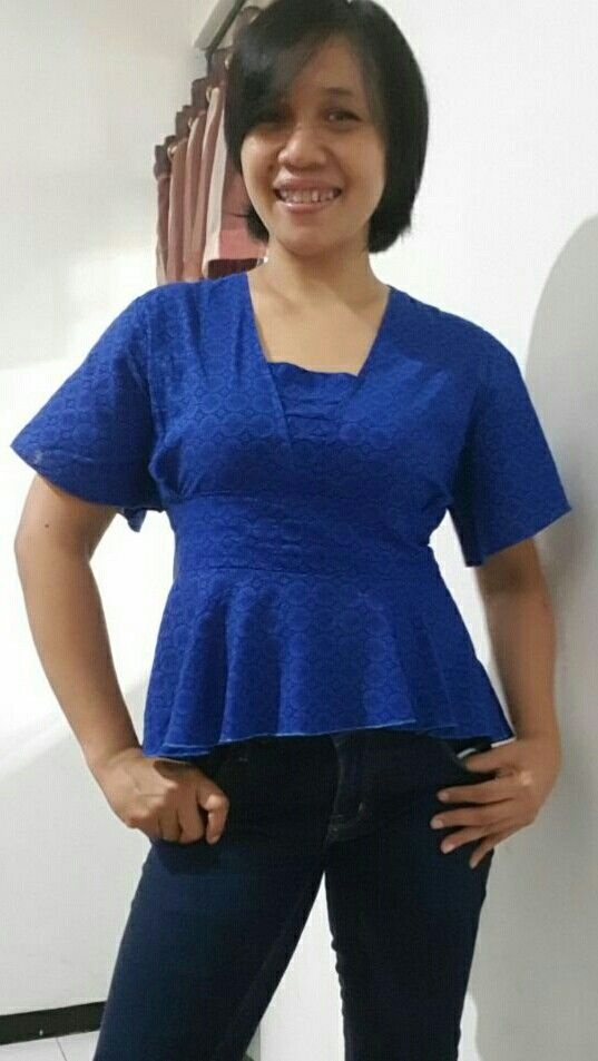Blue blouse #self-made