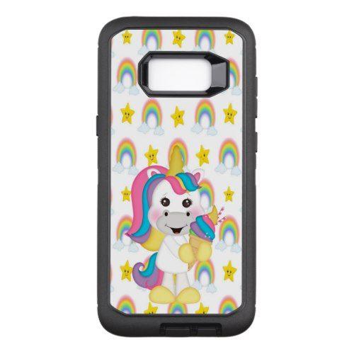 Unicorn Eating An Ice cream Cone OtterBox Defender Samsung Galaxy S8+ Case