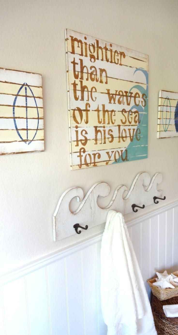 Surfer Boy Bedroom Bathroom Nautical Prayer Sign PSALM By