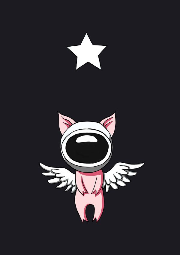 Flying Pig In Space https://www.behance.net/gallery/10192665/2012-August-Illustrations