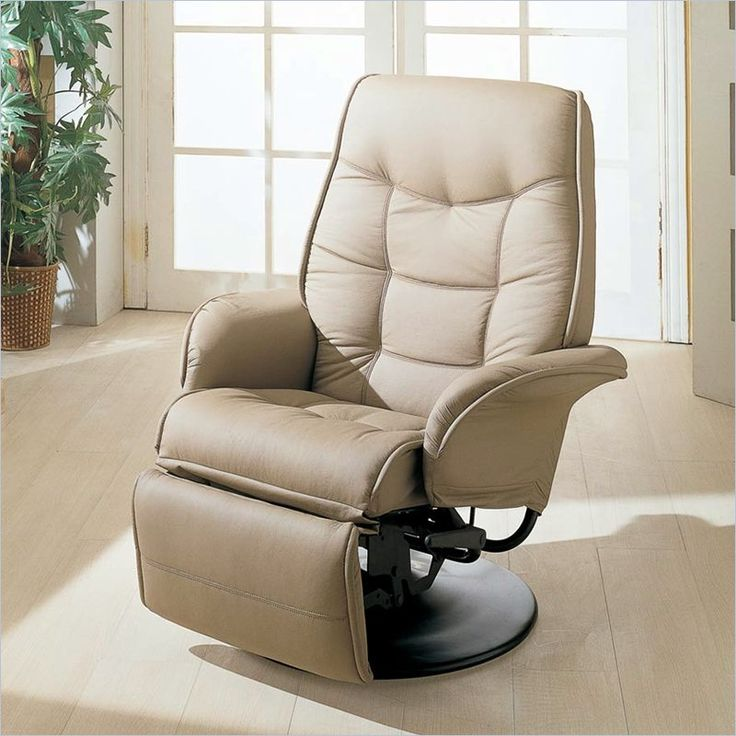 Coaster Furniture Faux Leather Swivel Recliner Chair in Bone Finish & Best 25+ Swivel recliner chairs ideas on Pinterest | Beach style ... islam-shia.org