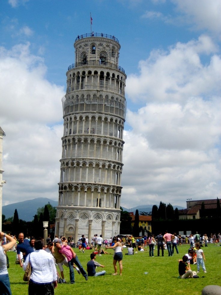 Pisa, Italy - haha look at the people taking pictures...that'll definitely be me