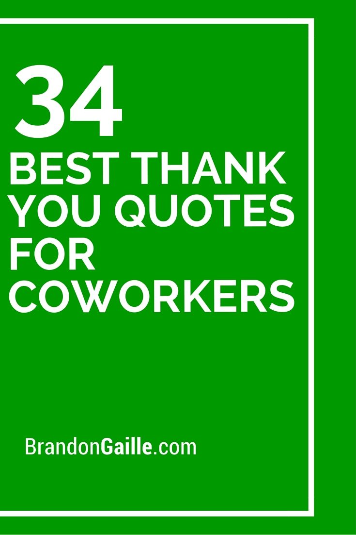 34 Best Thank You Quotes For Coworkers | Thank you quotes ...