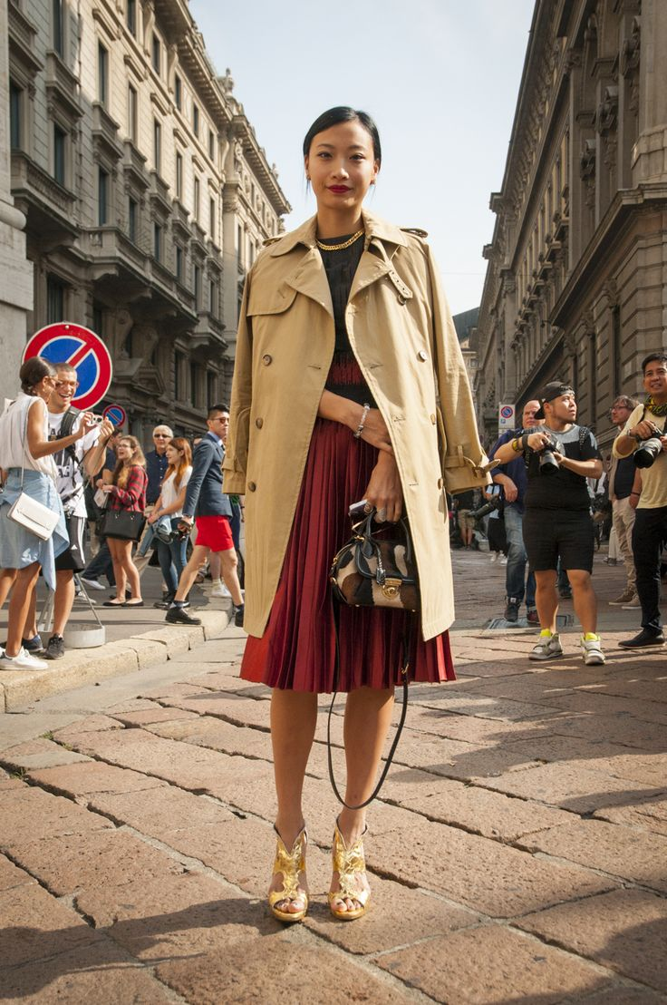 Female Fashion Week SS15 - people @ Salvatore Ferragamo show #mfw #mfw14 #salvatoreferragamo #fashiontrends #outfitideas