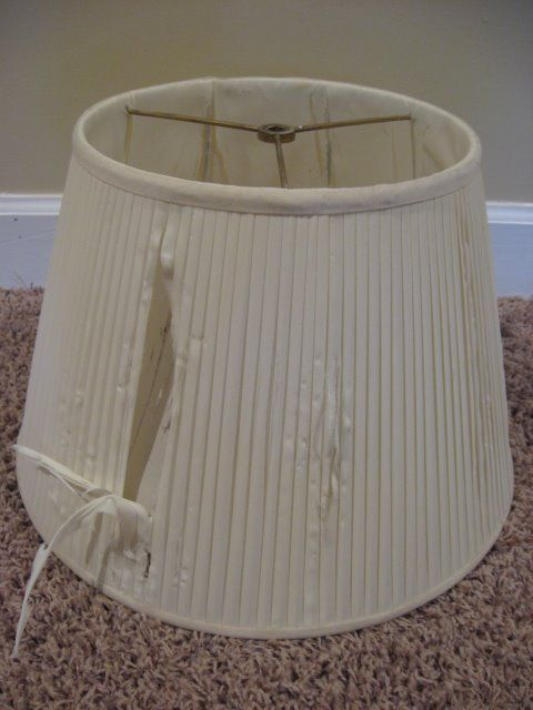 Re-Covering a Lampshade - Southern Hospitality | Southern Hospitality