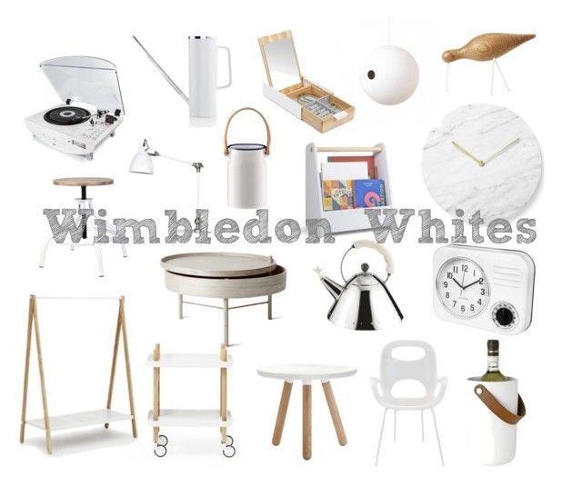 Wimbledon Whites by black-by-design on Polyvore featuring interior, interiors, interior design, home, home decor, interior decorating, Lene Bjerre, Stelton, Alessi and LSA International