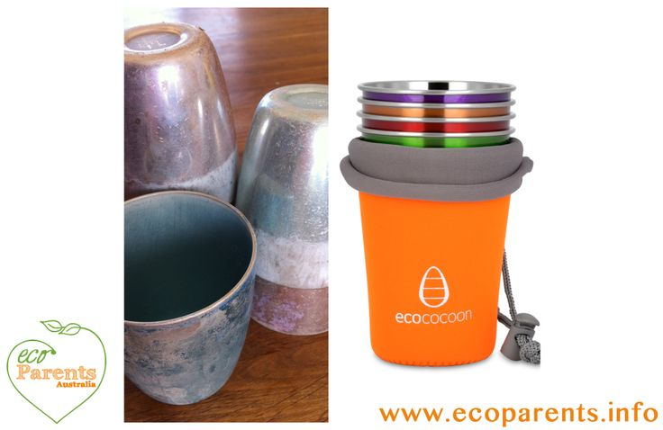 Remember these old cups? Not plastic, but there are concerns over their safety. The modern equivalent are these Ecococoon stainless steel cups.  See the Eco Parents full review.
