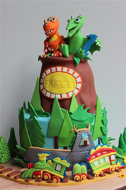 dinosaur train cake | Flickr - Photo Sharing!