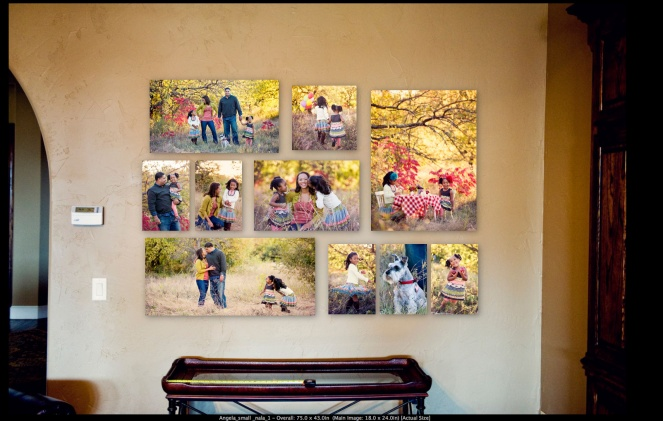 Turn a Plain Wall into a Focal Wall With A Layout of Canvas Prints