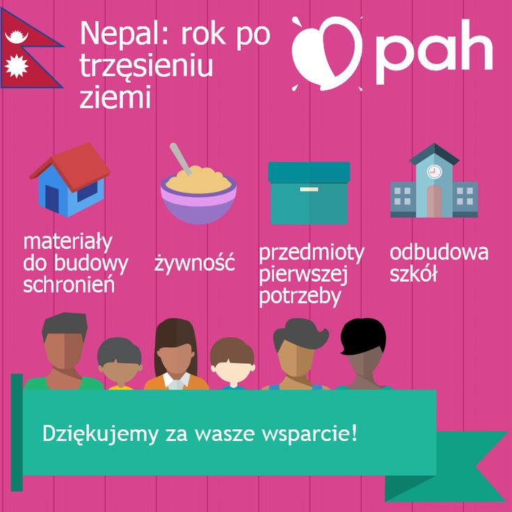 W Nepalu niesiemy pomoc osobom poszkodowanym przez trzęsienie ziemi. Dostarczyliśmy żywność, tabletki do uzdatniania wody, materiały do budowy schronień oraz inne niezbędne przedmioty. Obecnie odbudowujemy szkoły w dystrykcie Dhading.