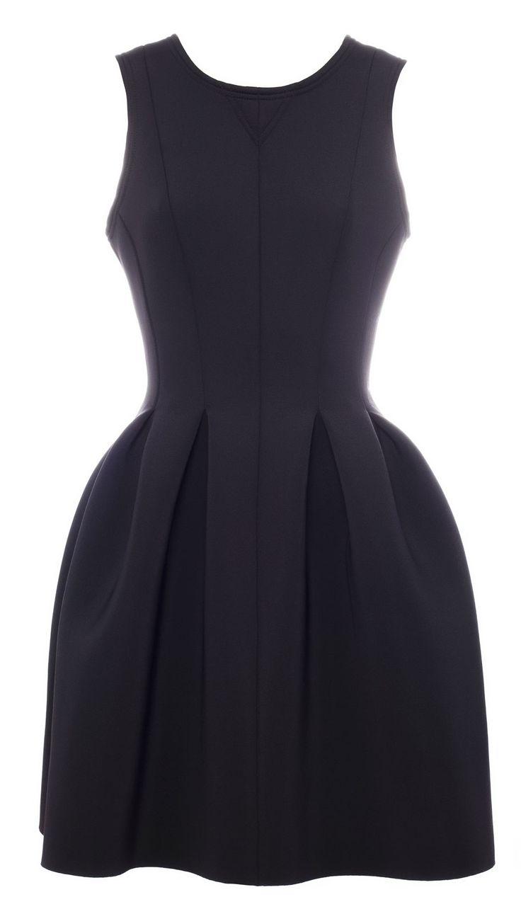Pull&bear Neoprene Dress in Black | Lyst