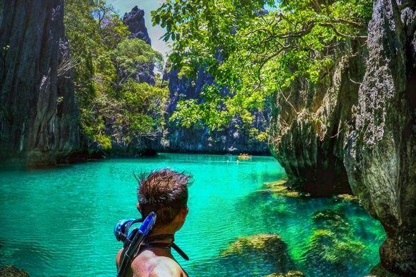 Small Lagoon, El Nido Phillipines  - Island Hopping el Nido - Palawan, Philippines -  Tour A