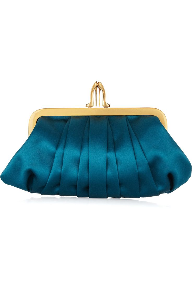 The price is admittedly slightly insane for a satin clutch, but still, this is very very cute. From Louboutin.