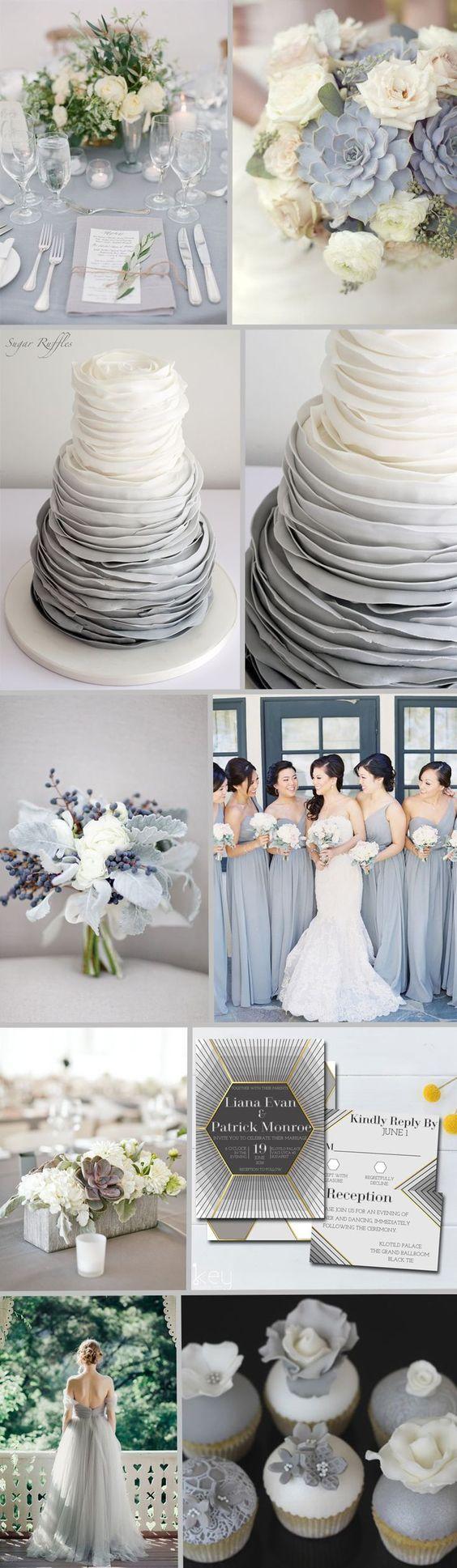 FiftyFlowers - Dove Gray Wedding Inspiration