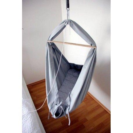 Textilní kolébka Hojdavak - šedý