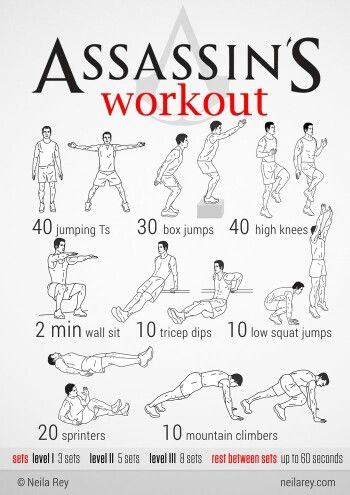 Think you have what it takes to really be an assassin? Complete the Assassin's Creed workout and find out!