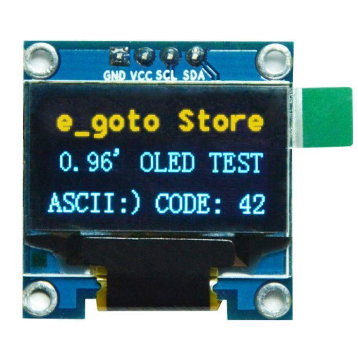 """0.96インチiicシリアル黄青oledディスプレイモジュール128 × 64 i2c ssd1306 12864液晶画面ボードgnd vcc scl sda 0.96 """"arduinoのため"""
