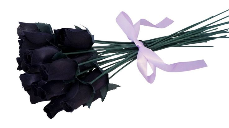 Orchid & Ivy 24 Beautiful Realistic Wooden Roses - Artificial Flowers - Midnight Black - Gift Boxed