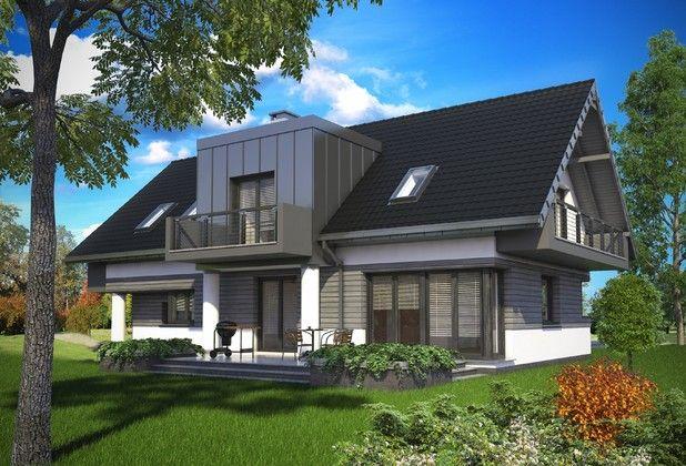 Projekt wyróżnia się nowoczesną aranżacją klasycznej bryły. Konstrukcja obiektu jest prosta, przekryta symetrycznym dachem dwuspadowym. Charakterystycznymi elementami są tutaj dwie naprzeciwległe, pulpitowe lukarny, wydatnie powiększające i optymalnie doświetlające pomieszczenia na poddaszu.