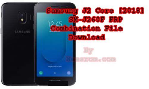 Use the FRP lock Google account Samsung J260F Combination
