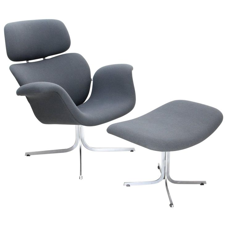 1965 Big Tulip Lounge Chair with Ottoman by Pierre Paulin, Edited by Artifort 1