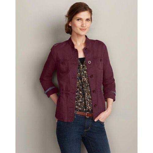 This looks like an interesting jacket: Eddie Bauer Womens Legend Wash Jacket