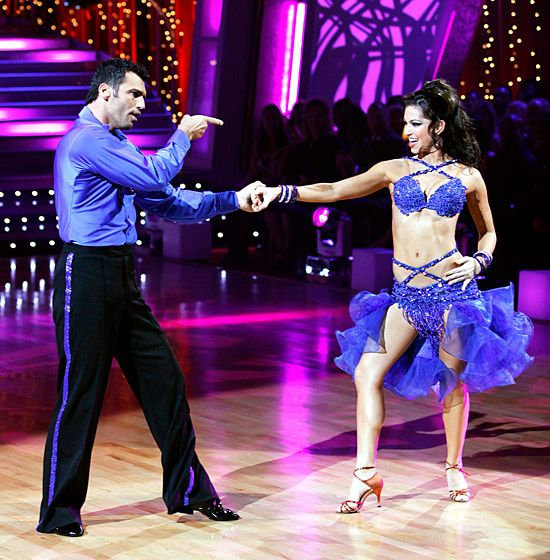 Melissa Rycroft  The Bachelor star wore a barely-there blue ensemble while performing with partner Tony Dovolani during the eighth season in 2009