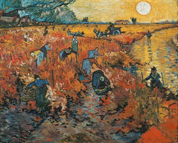 Titolo dell'immagine : Vincent van Gogh - Le vigne rosse ad Arles