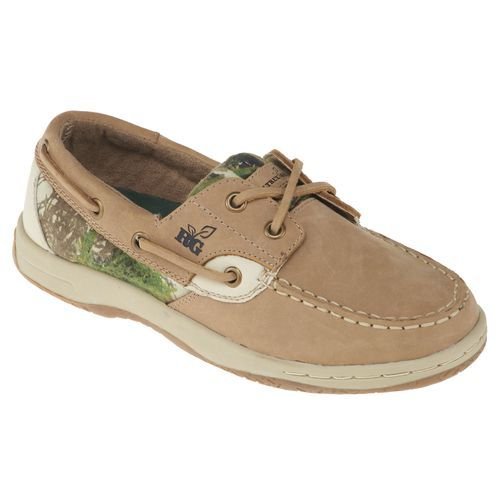Realtree Women's Leather Boat Shoes Love them! Gotta have them
